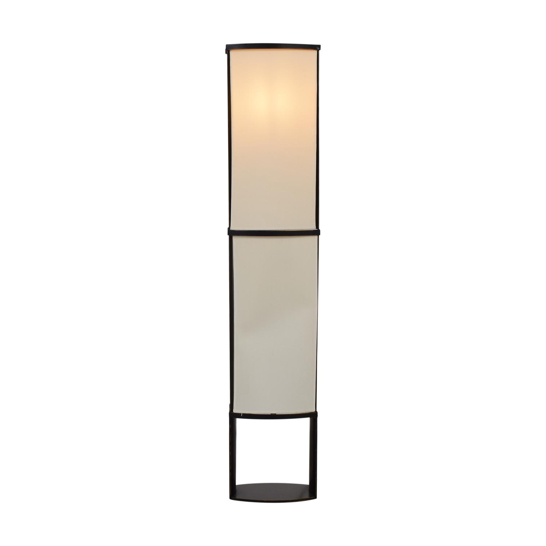 buy Black and Cream Floor Lamp  Decor