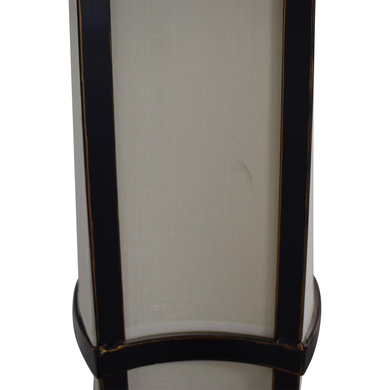 Black and Cream Floor Lamp / Lamps