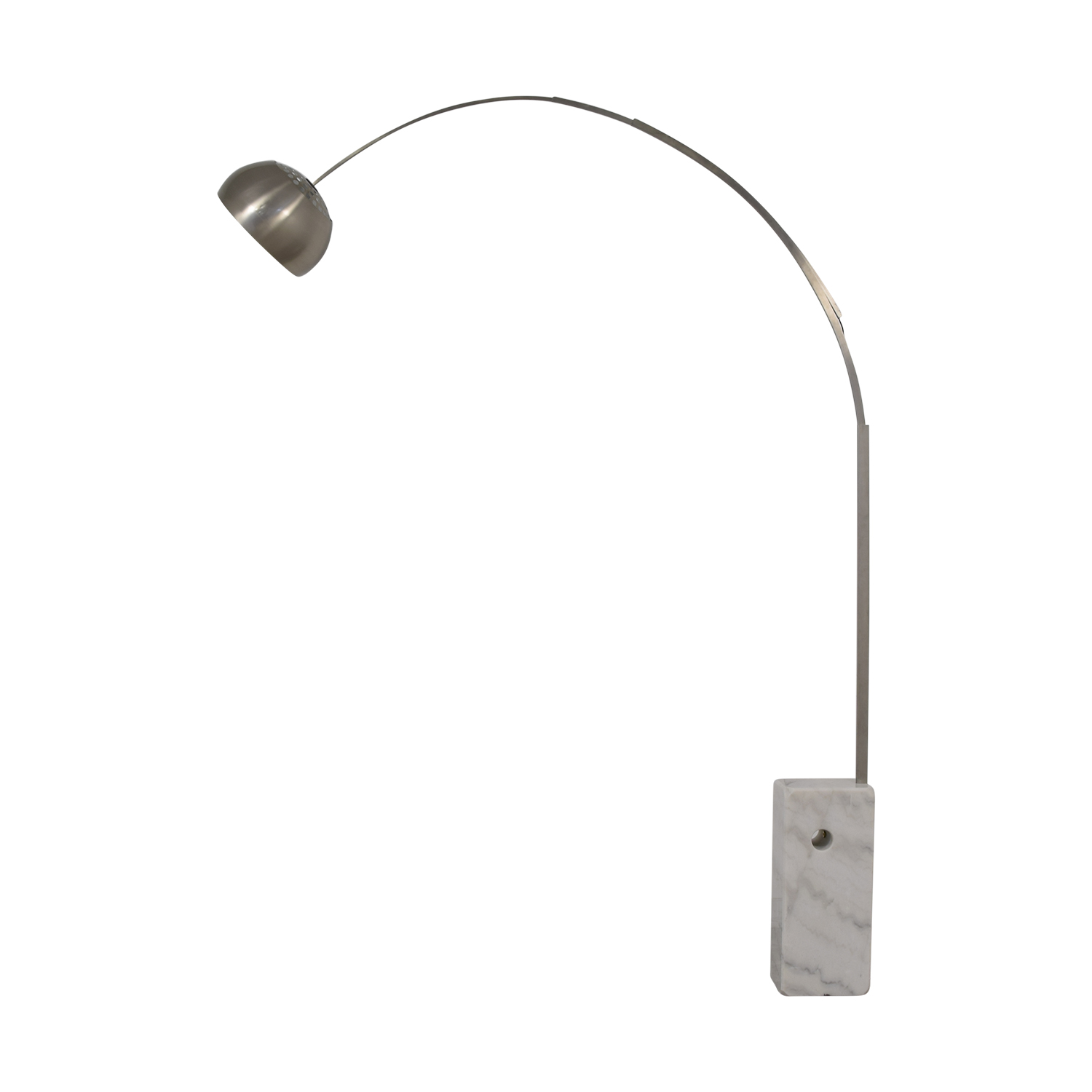 Design Within Reach Arco Chrome & Marble Floor Lamp / Decor