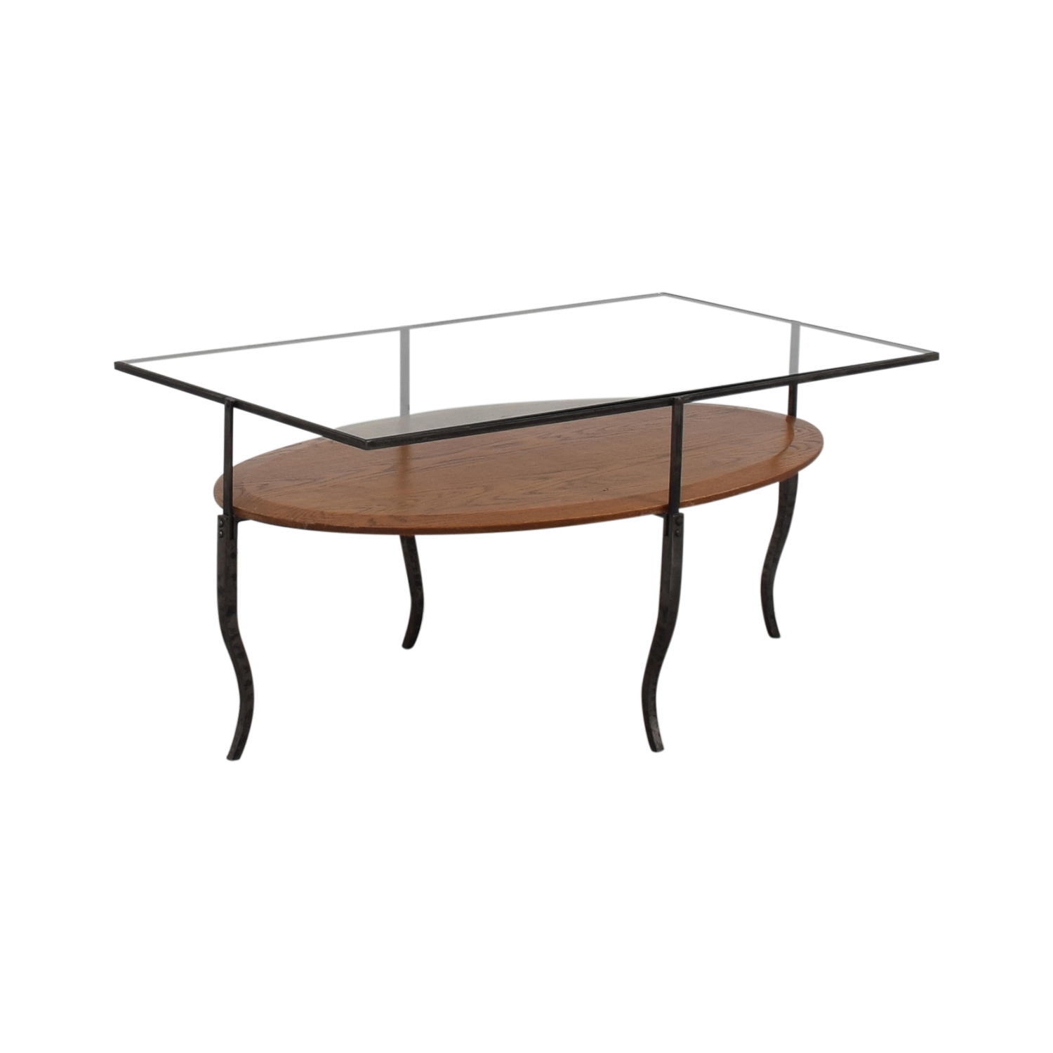 Glass Topped Coffee Table second hand