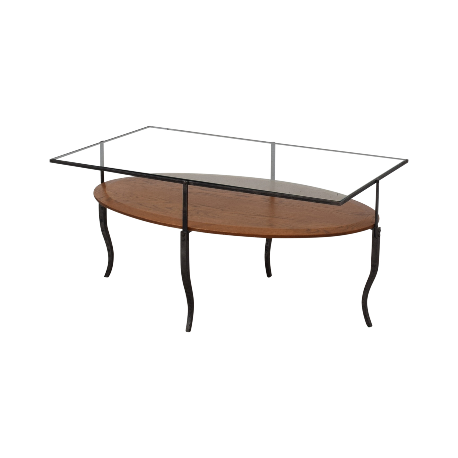 Glass Topped Coffee Table nj