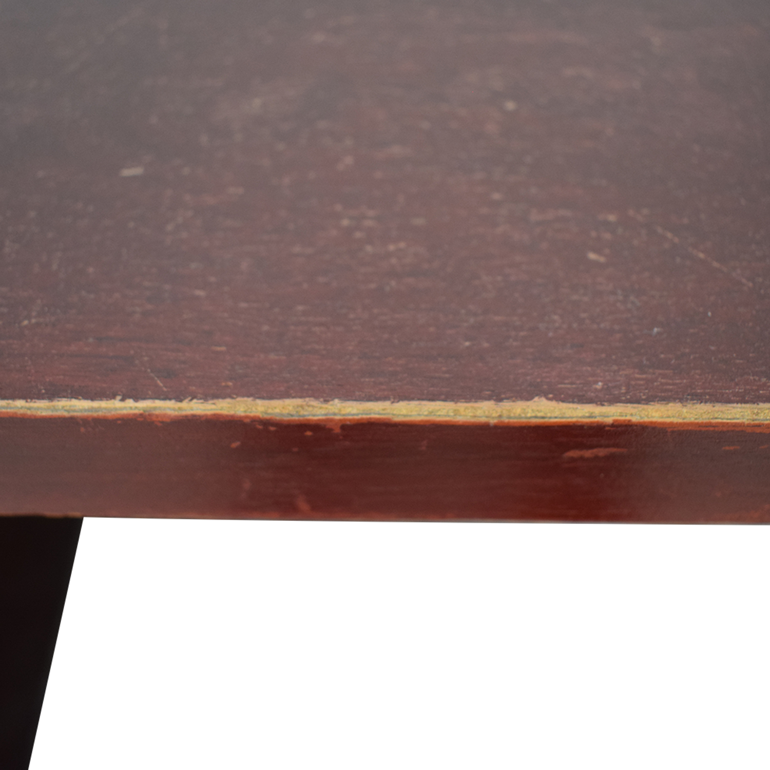 shop Three-Drawer Wood Desk  Tables