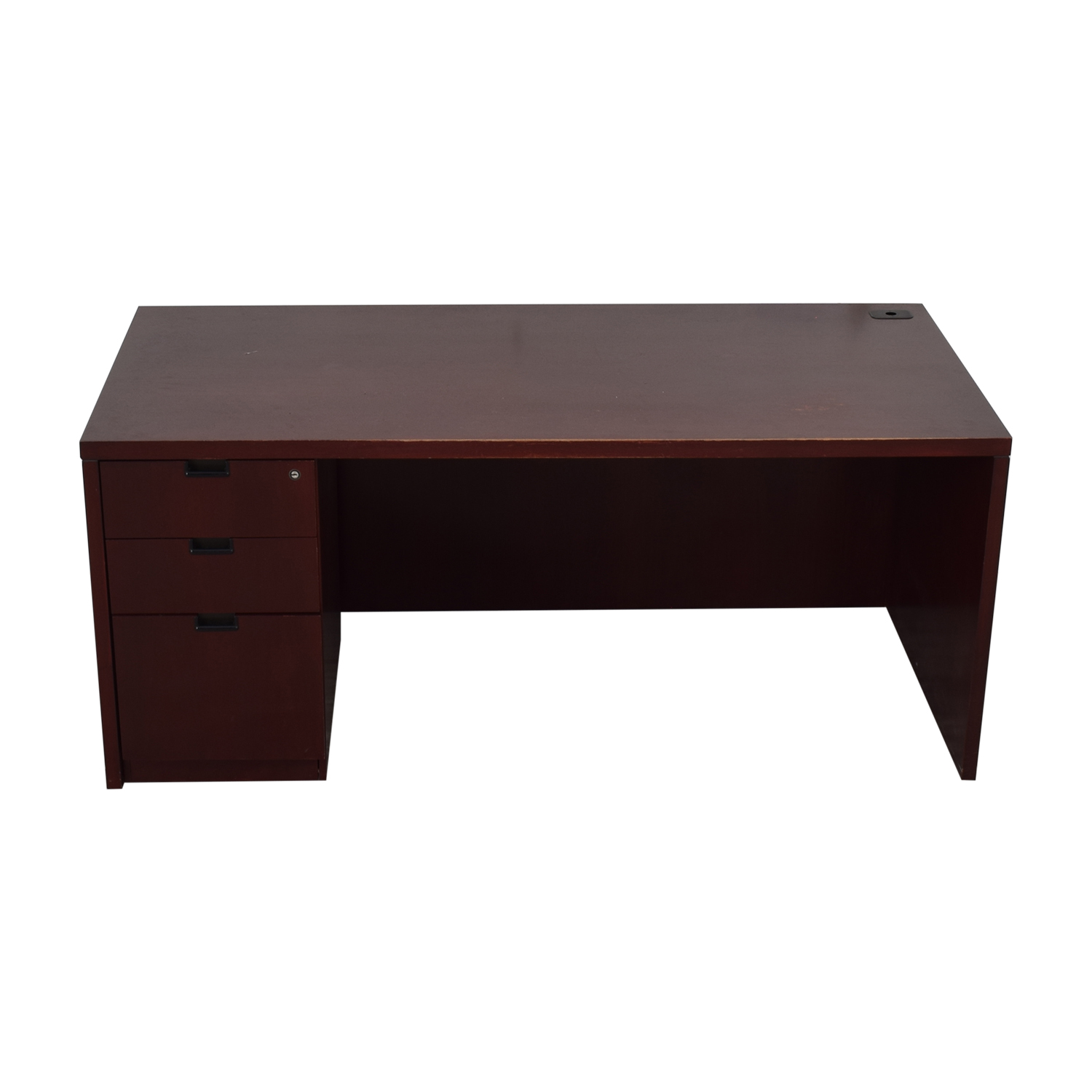 Three-Drawer Wood Desk coupon