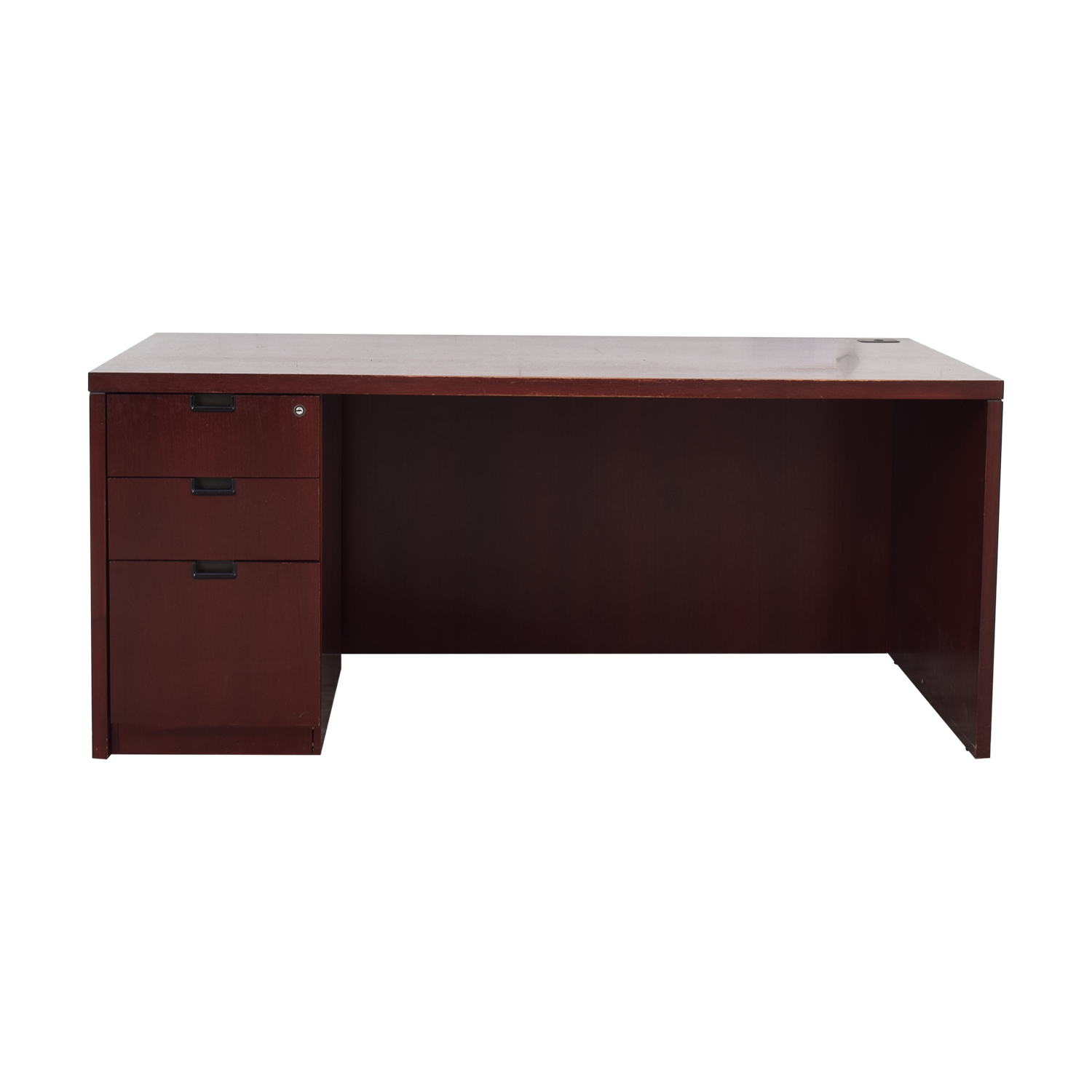 Three-Drawer Wood Desk nj