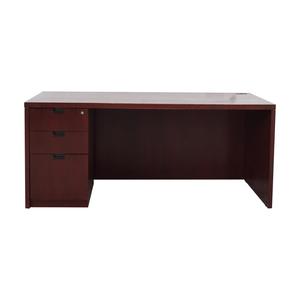 Three-Drawer Wood Desk on sale