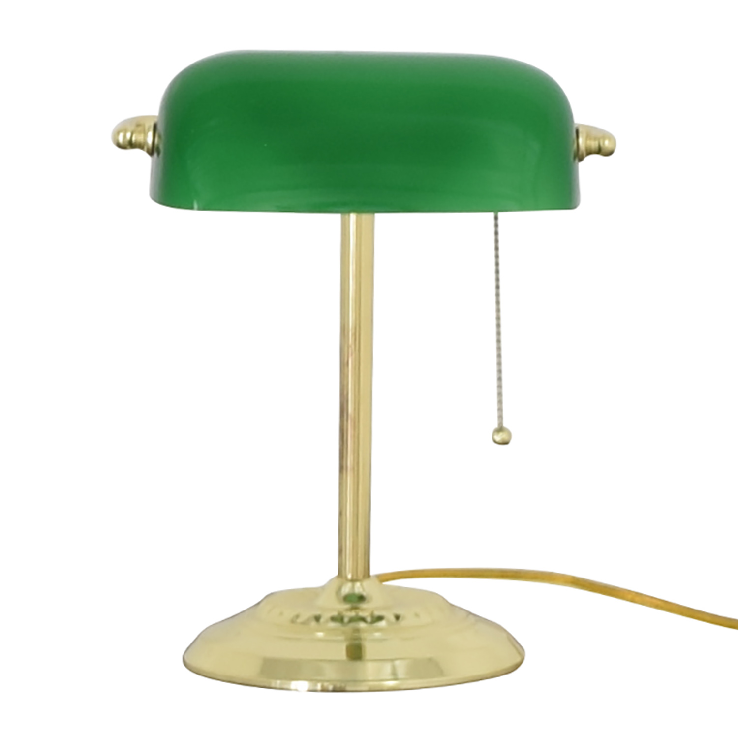 Green and Gold Desk Lamp nj