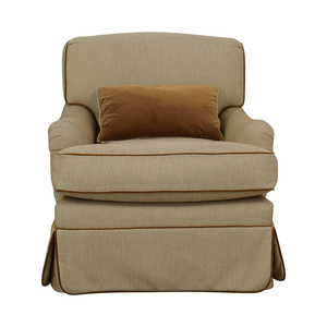 Beige Skirted Upholstered Accent Chair used