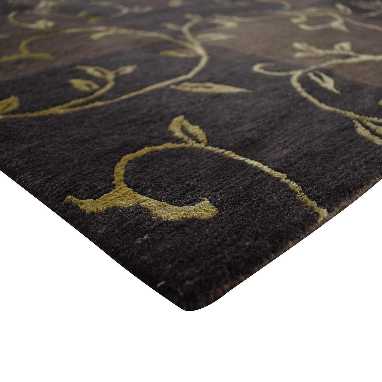 ABC Carpet & Home ABC Carpet & Home Brown and Gold Scroll Design Rug on sale