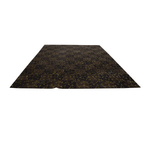 ABC Carpet & Home ABC Carpet & Home Brown and Gold Scroll Design Rug nyc
