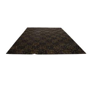 ABC Carpet & Home ABC Carpet & Home Brown and Gold Scroll Design Rug nj