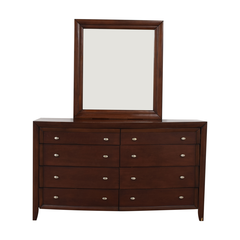 buy Casana Furniture Eight-Drawer Dresser with Mirror Casana Furniture Dressers