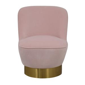 CB2 Simone Mink Faux Mohair Blush Chair CB2