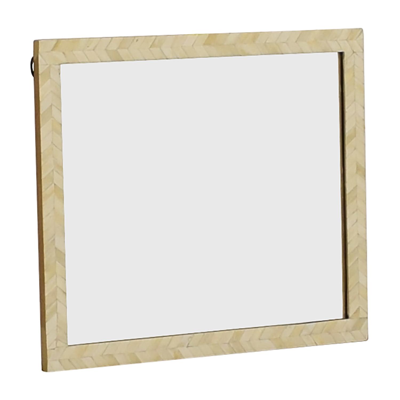 West Elm West Elm Bone Inlay Wall Mirror for sale