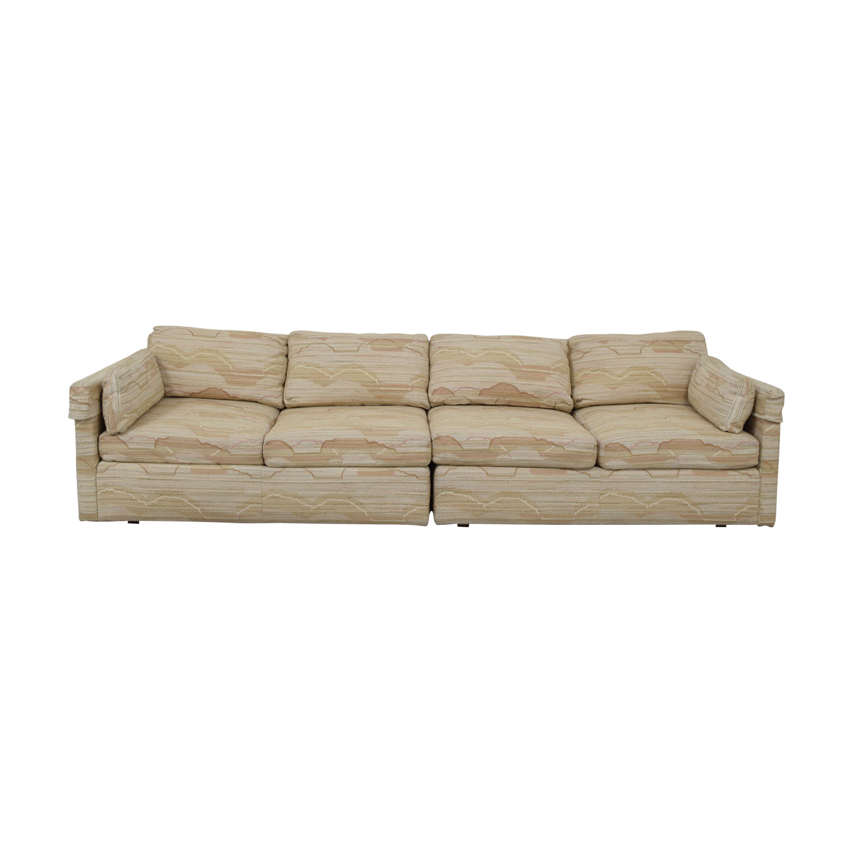 buy Drexel Multi-Colored Beige Four-Cushion Sofa Drexel
