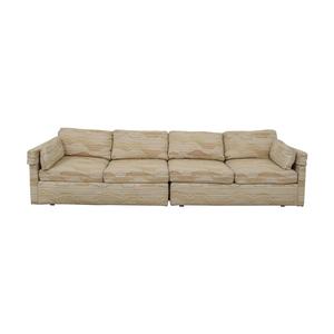 shop Drexel Multi-Colored Beige Four-Cushion Sofa Drexel Sofas