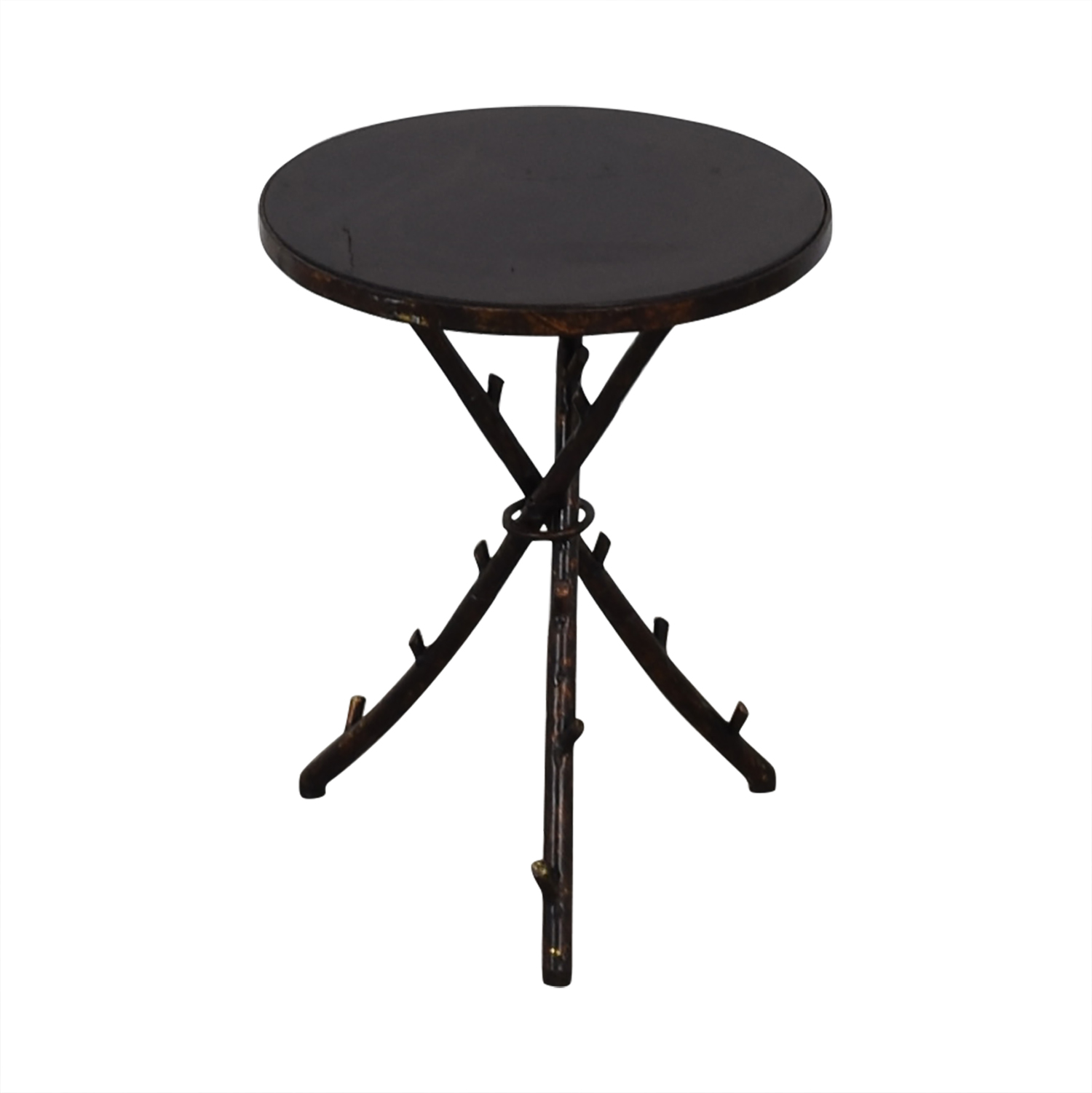 Rustic Accent Table black
