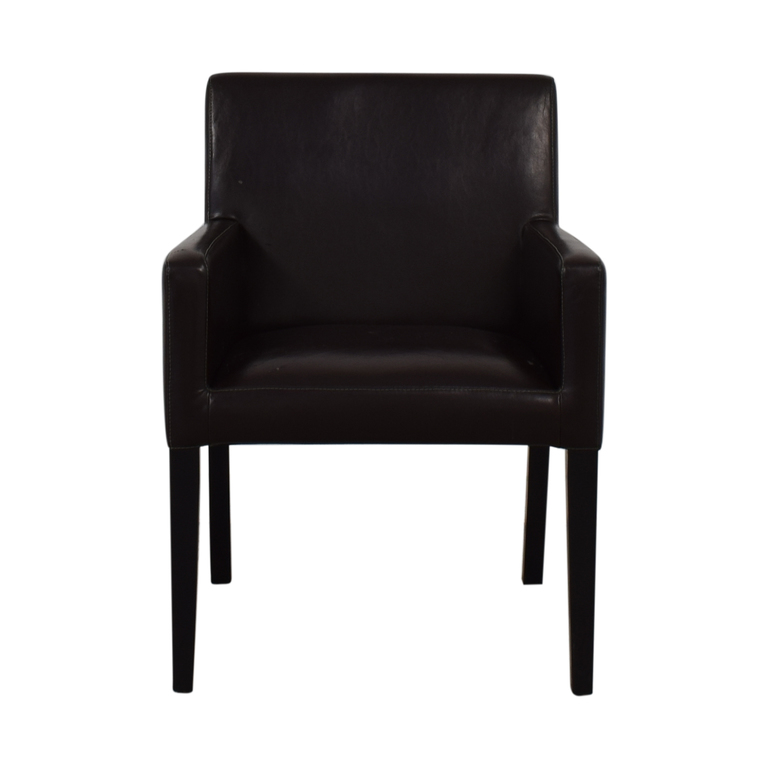 shop Crate & Barrel Brown Accent Chair Crate & Barrel