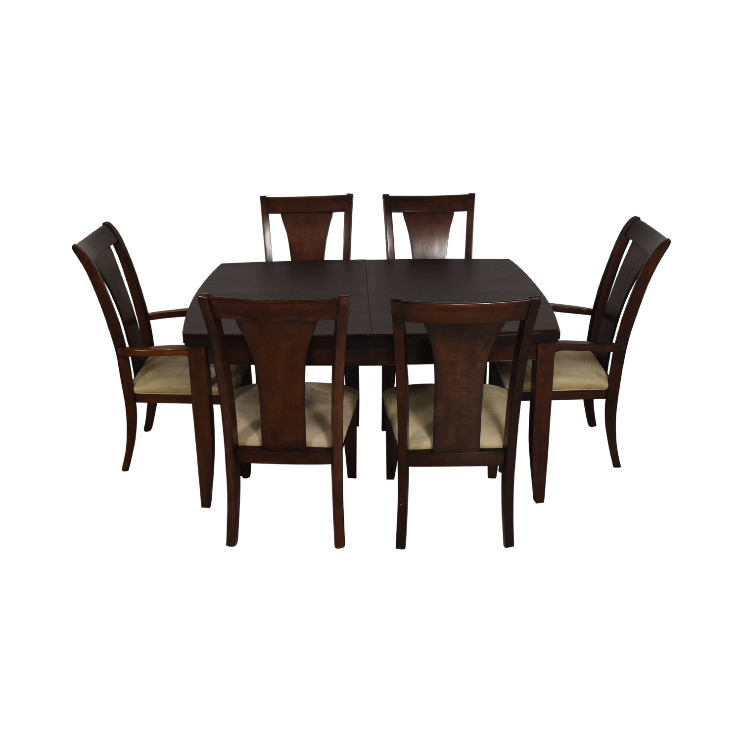 Macy's Macy's Wood Extentable Dining Set dimensions