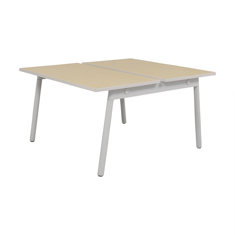 shop Poppin Series A Double Desk Poppin Home Office Desks