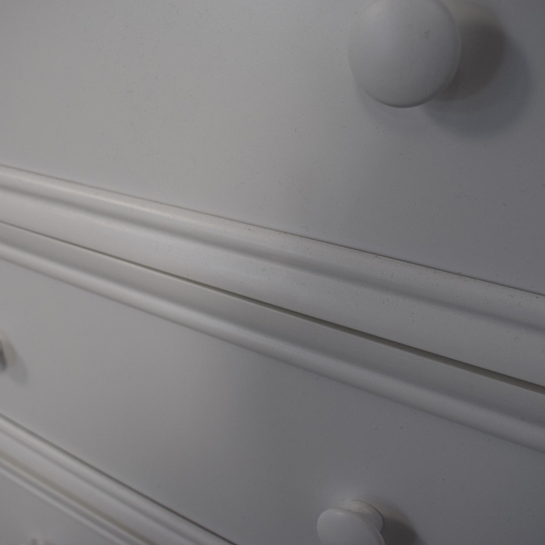 White Nine Drawer Loft Full Bed for sale