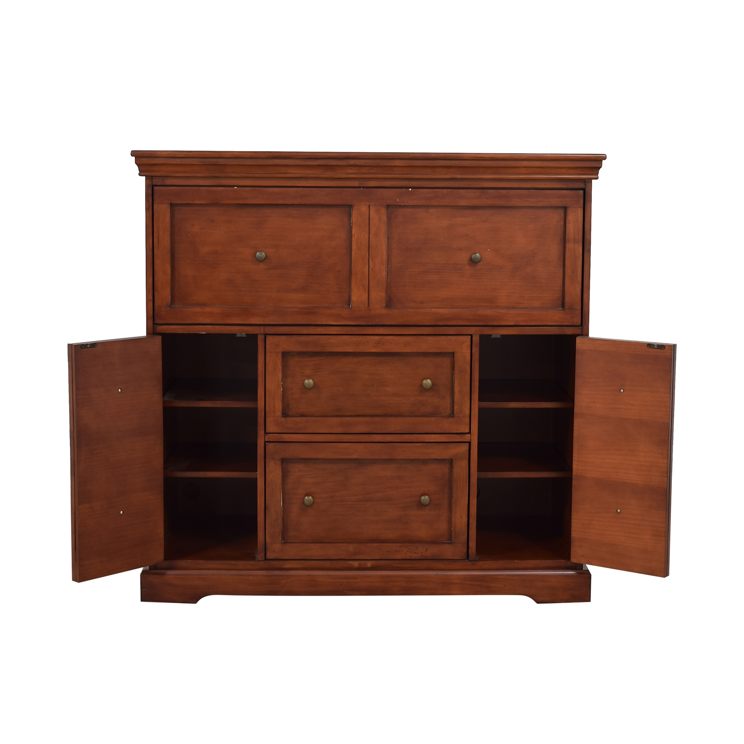 buy Ballard Designs Eastman Large Brown Secretary Desk Ballard Designs