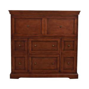 buy Ballard Designs Ballard Designs Eastman Large Brown Secretary Desk online