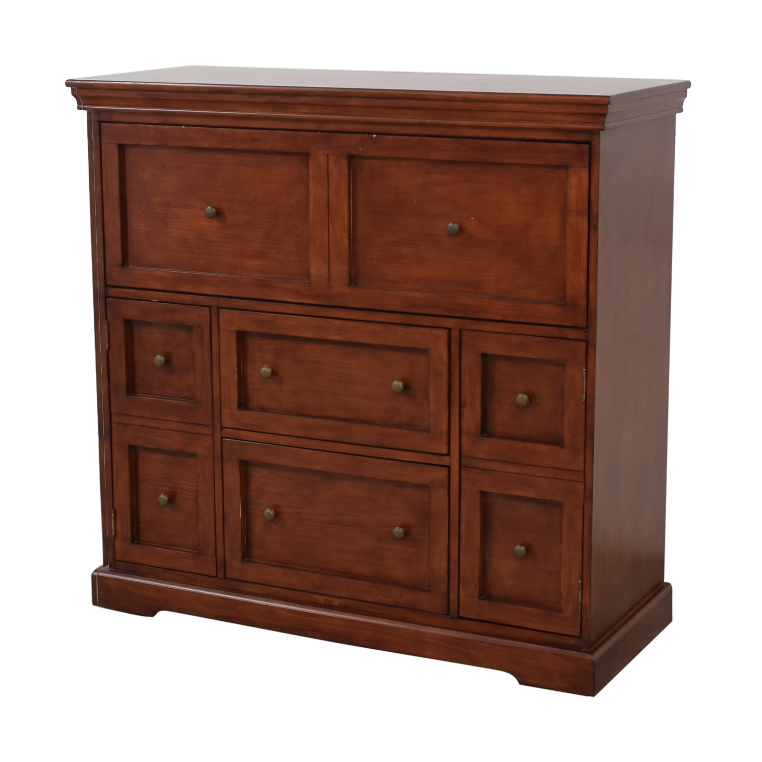 Ballard Designs Ballard Designs Eastman Large Brown Secretary Desk price
