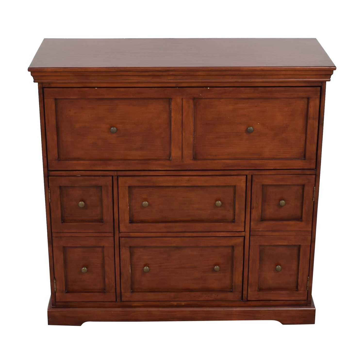 shop Ballard Designs Eastman Large Brown Secretary Desk Ballard Designs Tables