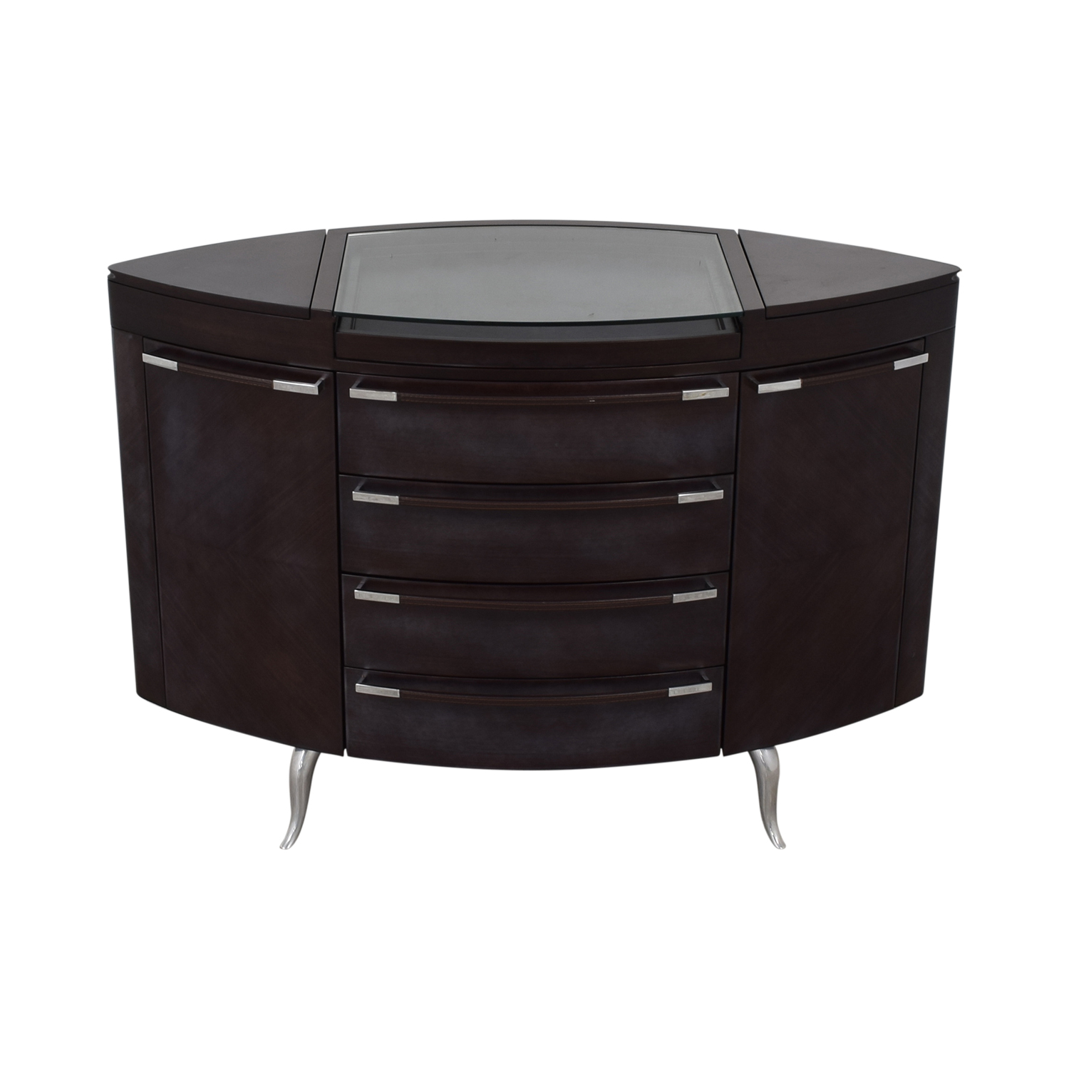 Maurice Villency Oval Elliptical Chest of Drawers / Storage