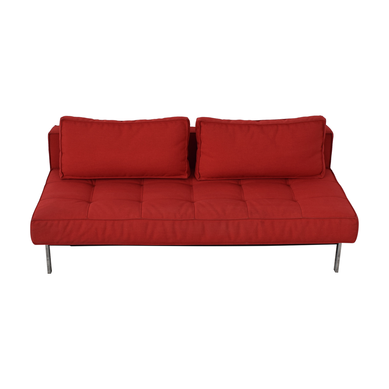 71 Off Innovation Living Red Tufted Armless Twin Sofa Bed Sofas