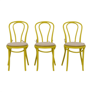Crate & Barrel Crate & Barrel Yellow Sonny Dining Chairs discount