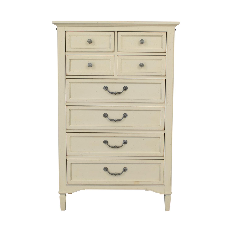 Stanley Furniture Eight-Drawer Off-White Tall Dresser / Storage