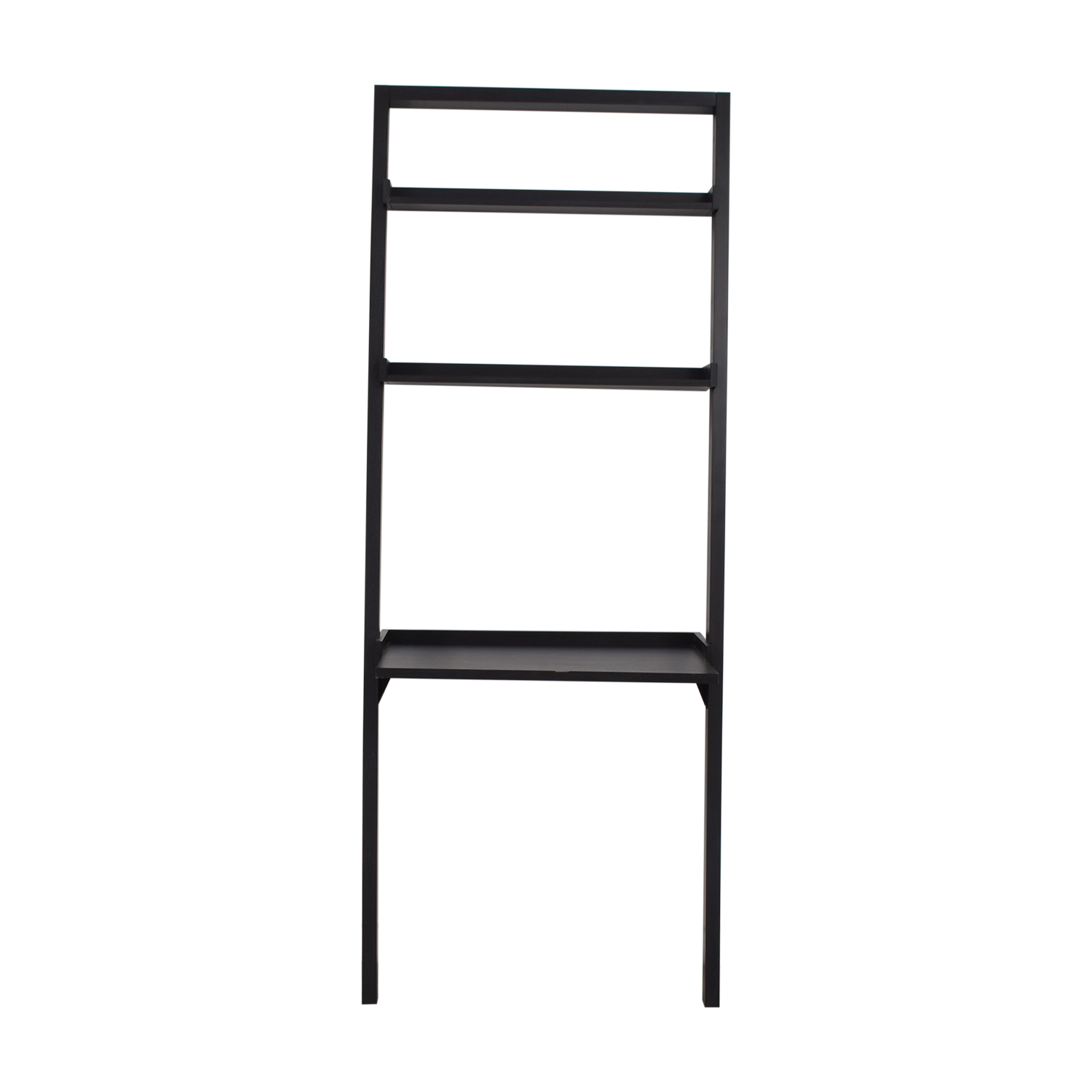 buy Crate & Barrel Sloane Black Leaning Desk Crate & Barrel Bookcases & Shelving