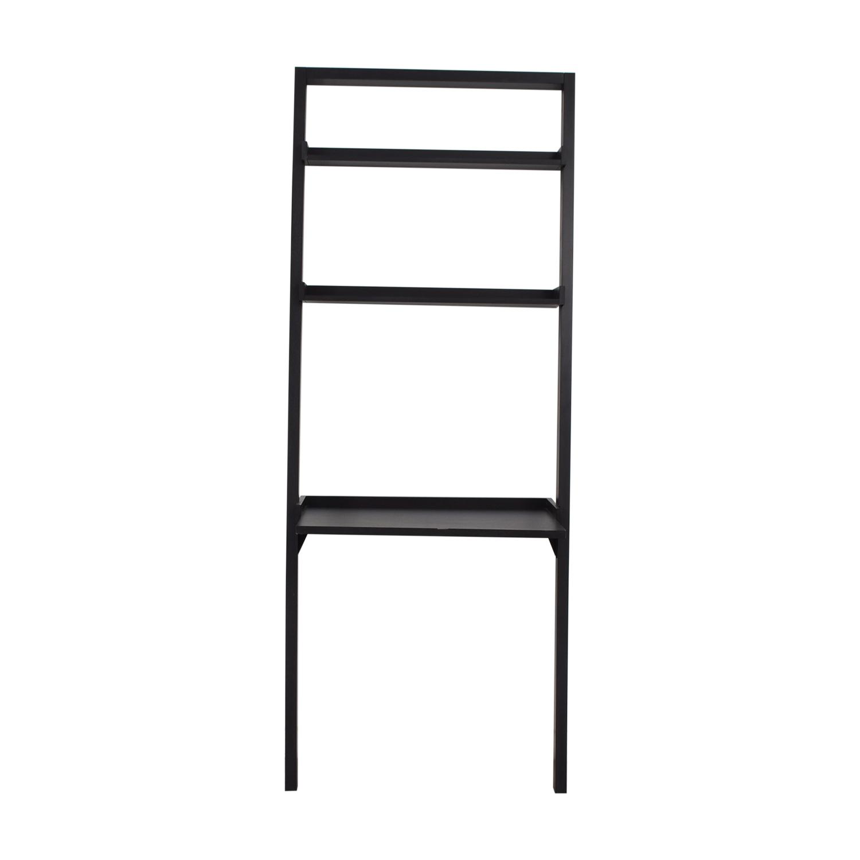 buy Crate & Barrel Sloane Black Leaning Desk Crate & Barrel Bookcases & Shelving