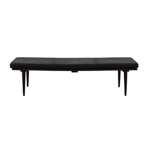 BoConcept Midcentury Black Slat Bench Herman Miller-Style with BoConcept Cushion used