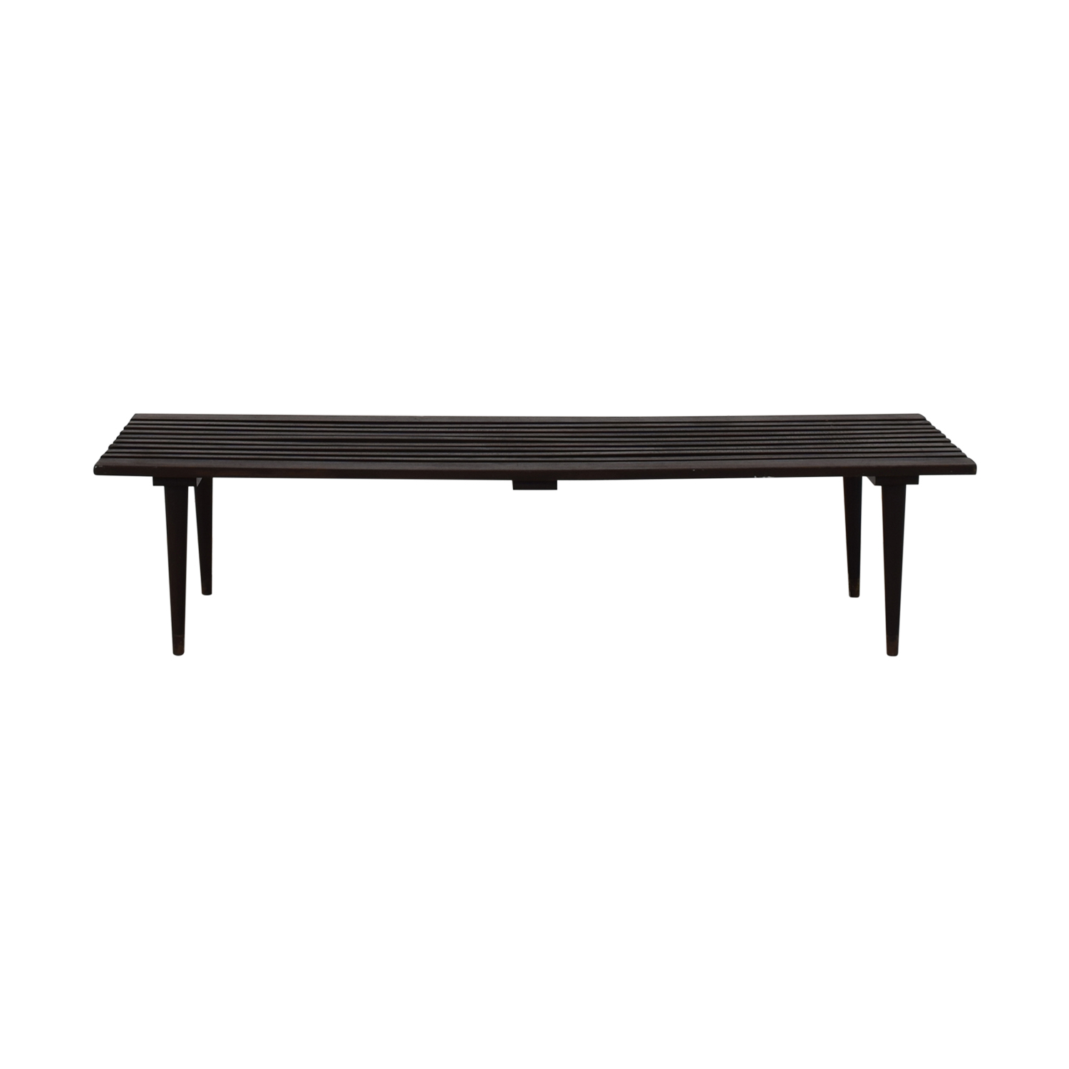 BoConcept Midcentury Black Slat Bench Herman Miller-Style with BoConcept Cushion price