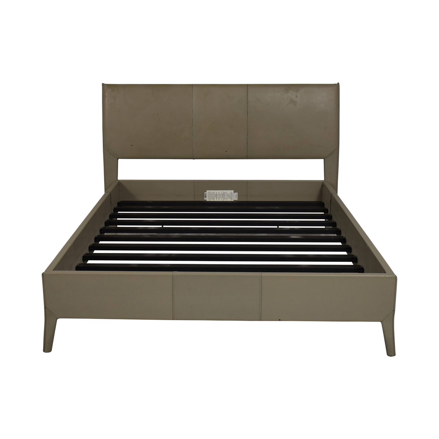 buy Crate & Barrel Grey Full Bed Crate & Barrel Bed Frames