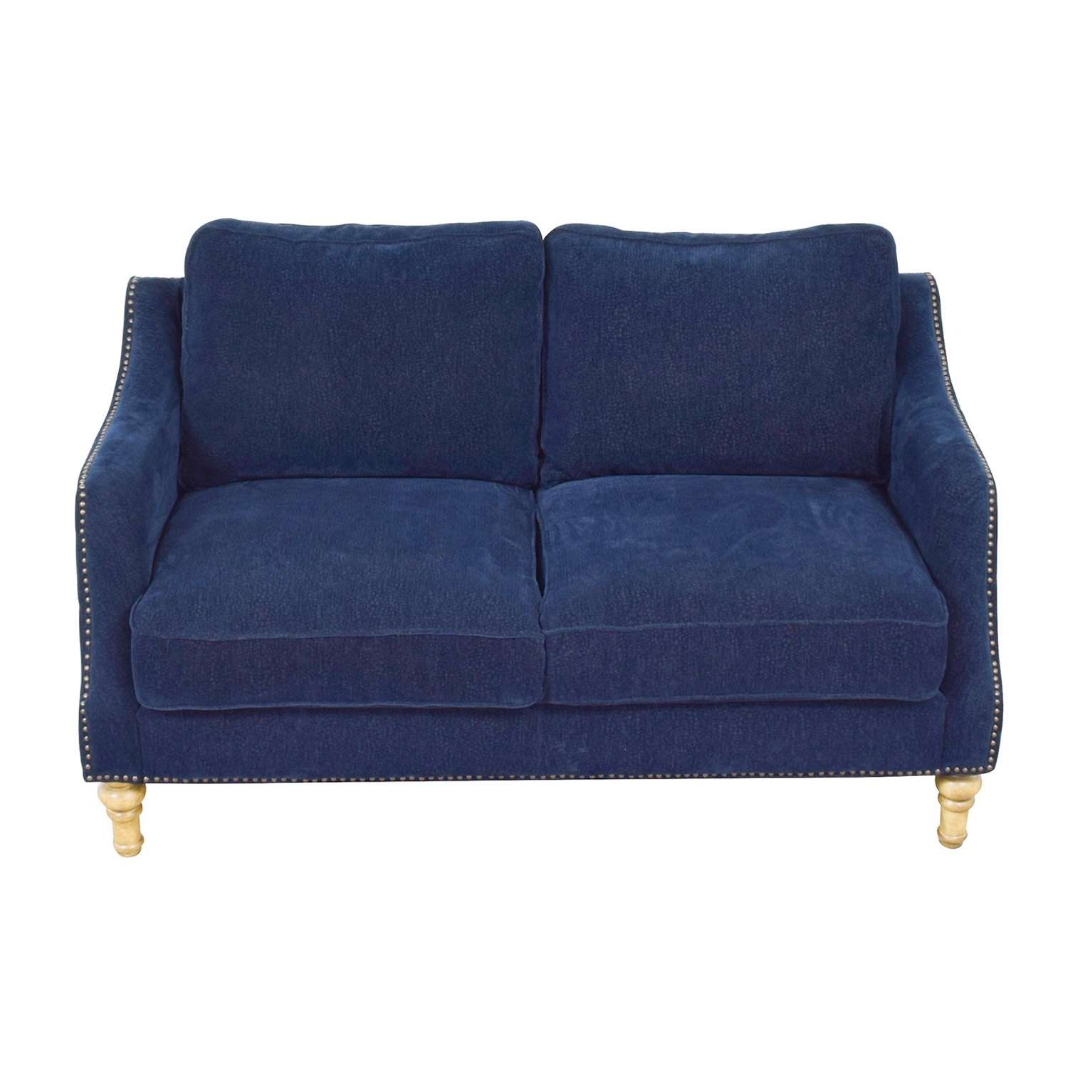 Mayfair Navy Nailhead Two-Cushion Loveseat