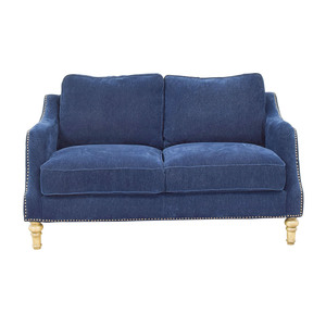 Mayfair Navy Nailhead Two-Cushion Loveseat nj
