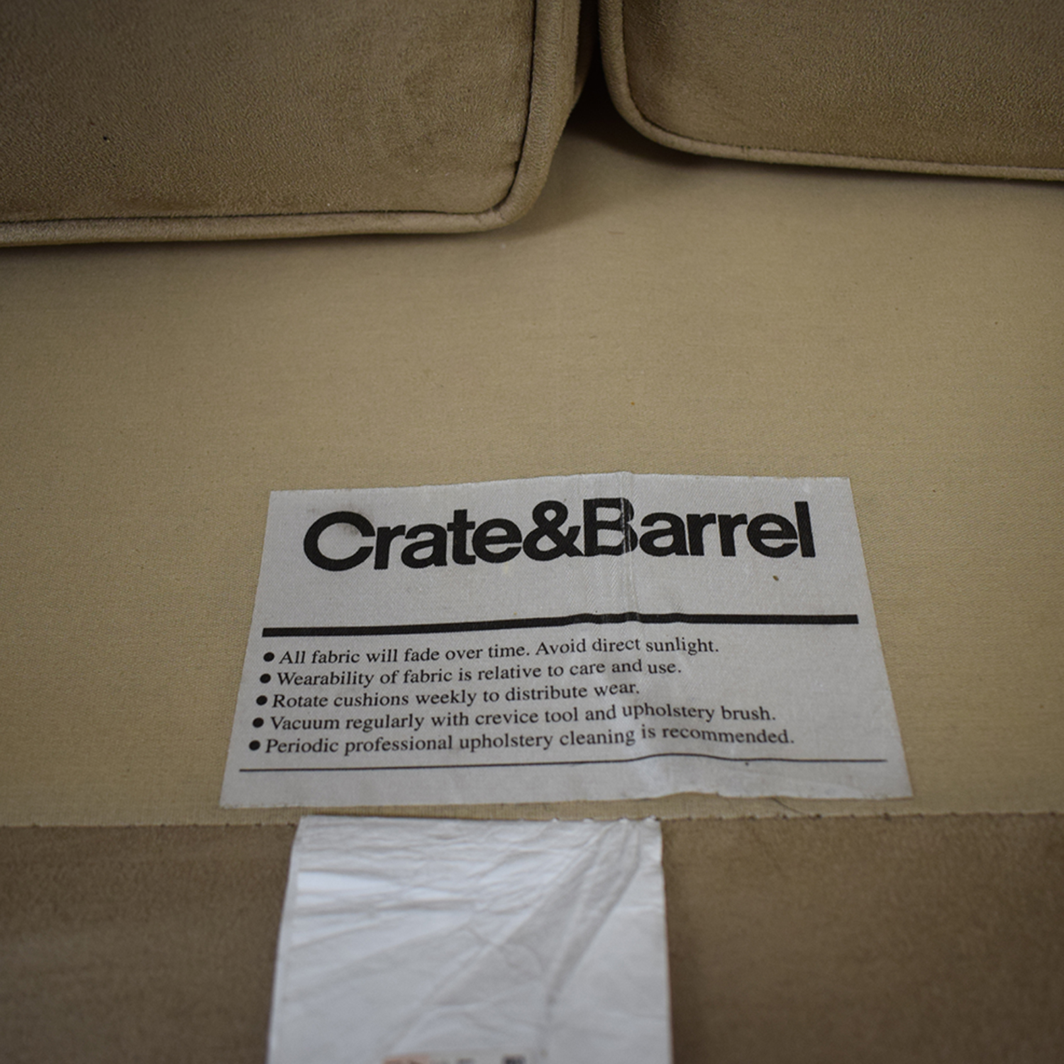 Crate & Barrel Crate & Barrel Beige Sofa discount