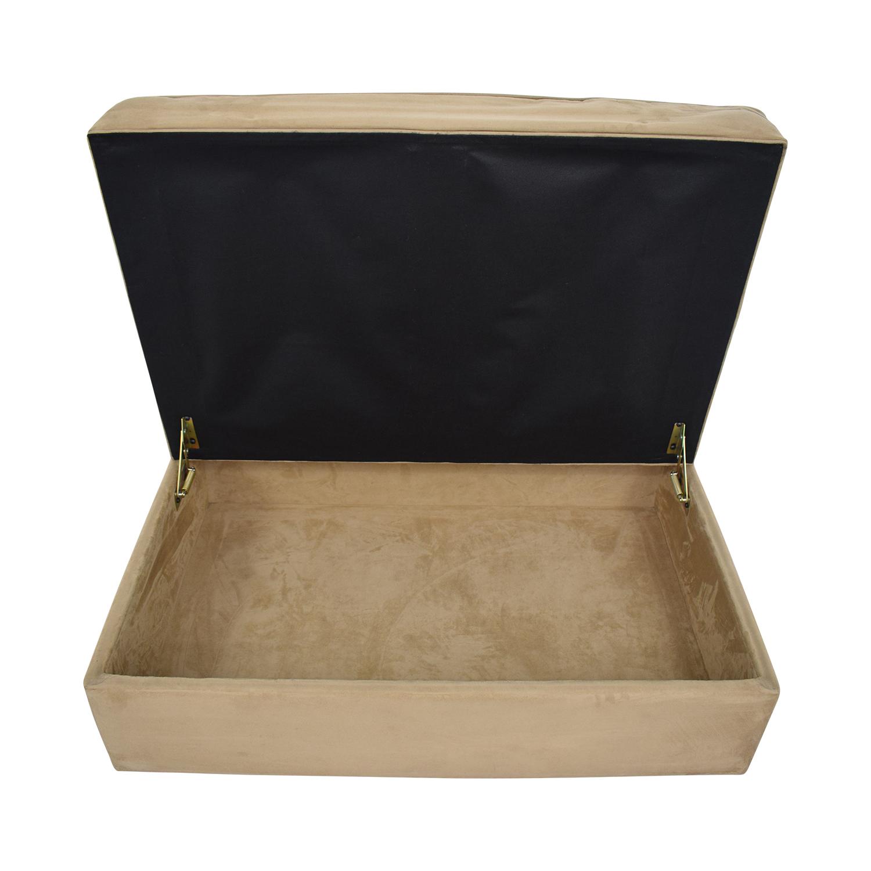 Crate & Barrel Crate & Barrel Storage Ottoman on sale