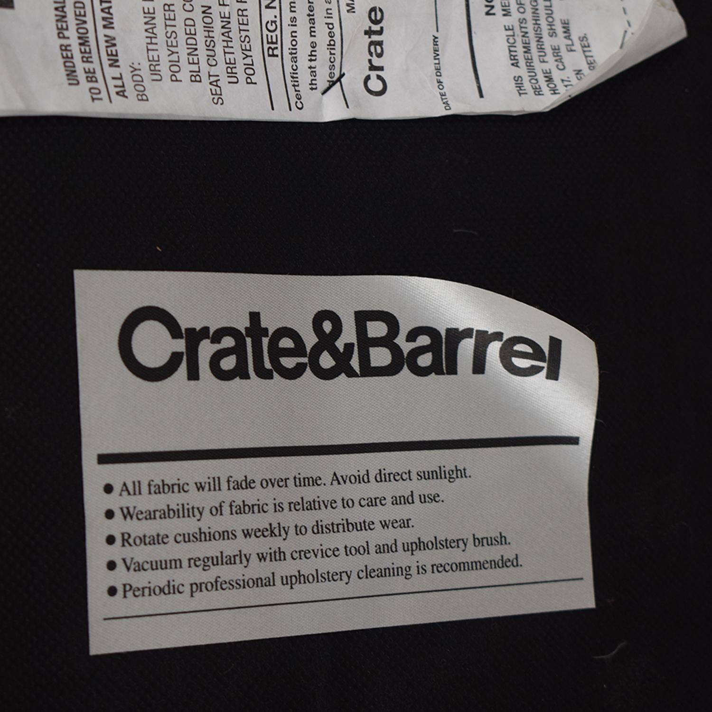 buy Crate & Barrel Storage Ottoman Crate & Barrel Storage