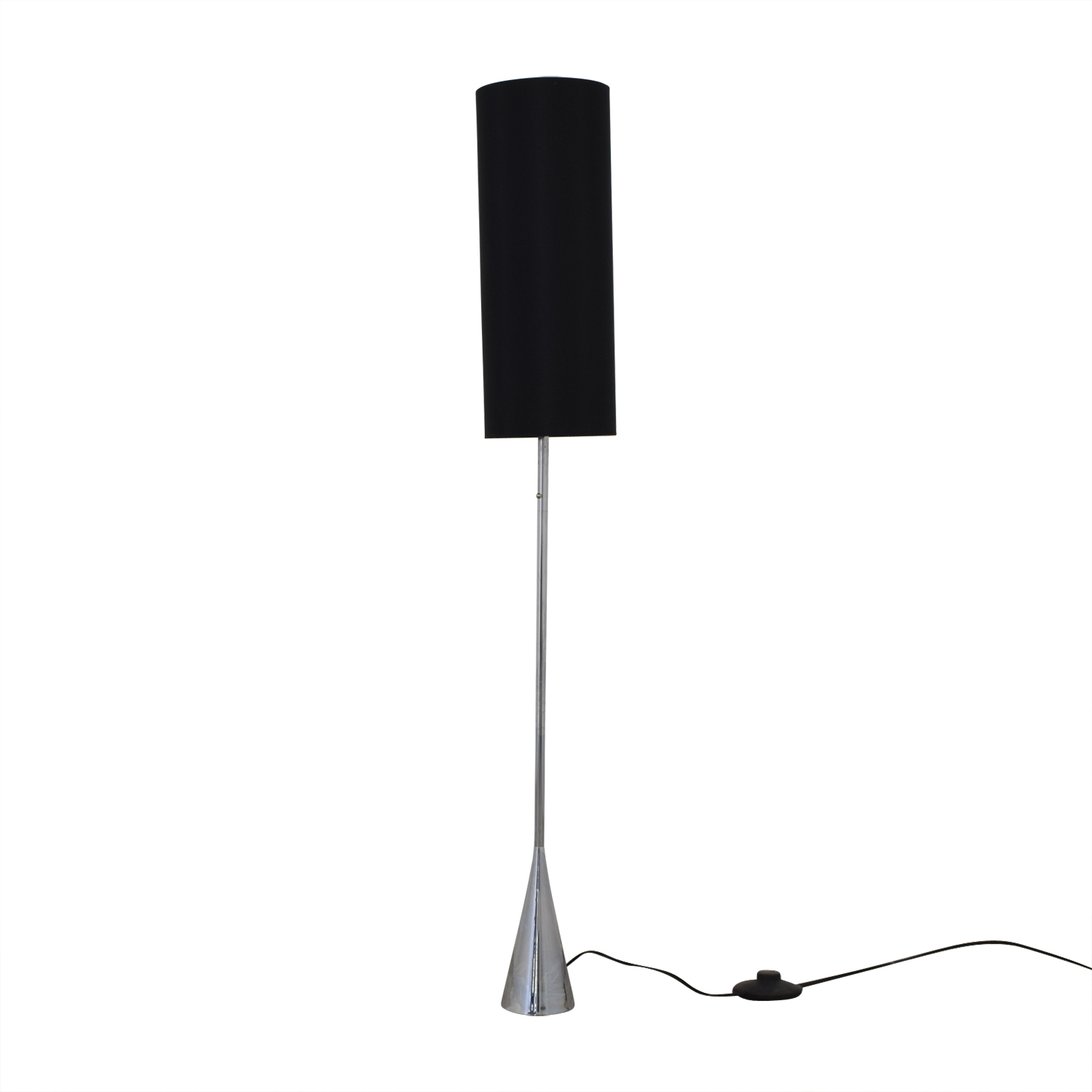 Black Shade and Chrome Floor Lamp sale