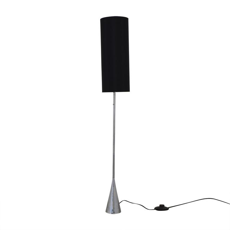 Black Shade and Chrome Floor Lamp