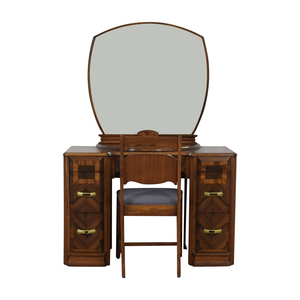 Vintage Vanity with Chair