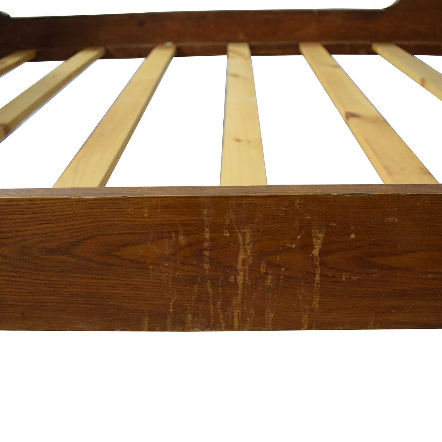 Antique Wood Full Bed Frame discount