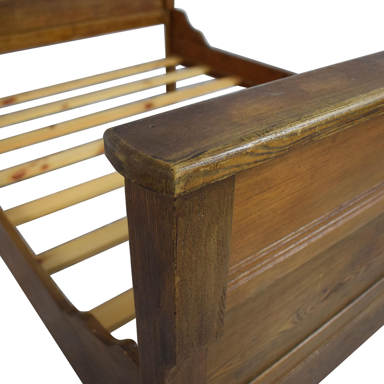 Antique Wood Full Bed Frame sale