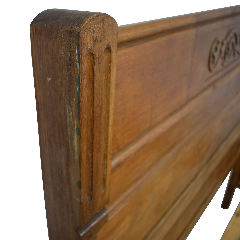 buy  Antique Wood Full Bed Frame online
