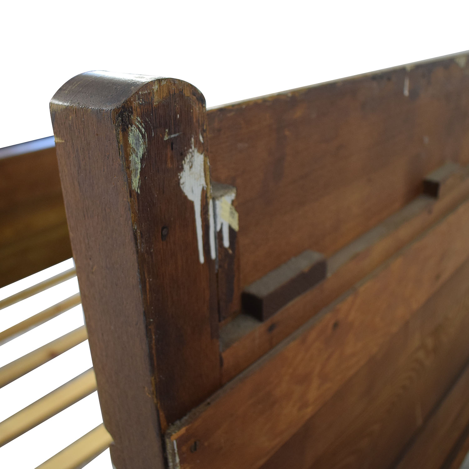 Antique Wood Full Bed Frame second hand