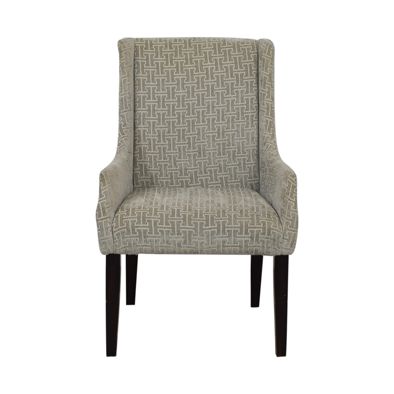 Grey Upholstered Accent Chair nj